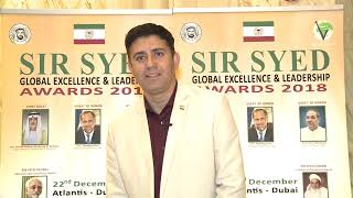 Syed Amaan Haider @ Sir Syed Global Excellence Awards 2018