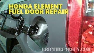 Honda Element Fuel Door Repair -Ericthecarguy