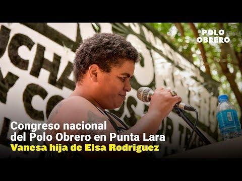 Congreso nacional del Polo Obrero // Saludo de Vanesa hija de Elsa Rodriguez