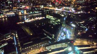 View from Oblix Restaurant in the Shard, London