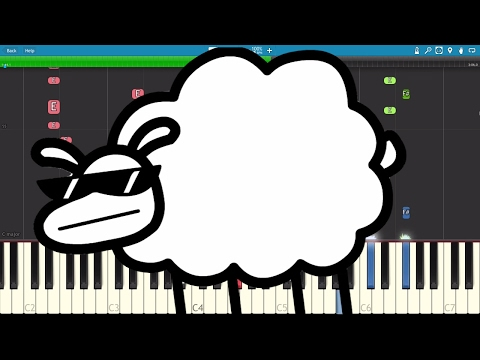 Beep Beep I'm A Sheep - Instrumental Remix - asdfmovie10 - LilDeuceDeuce Piano Cover