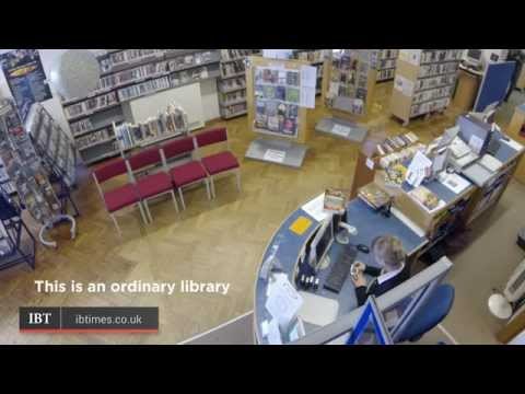 Medieval knights stun librarians in prank video
