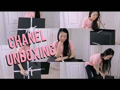 CHANEL DEAUVILLE LARGE TOTE UNBOXING! SPRING 2017 ACT1   FashionablyAMY