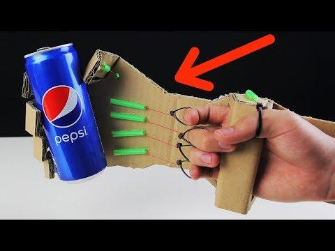 Как сделать механическую руку из картона