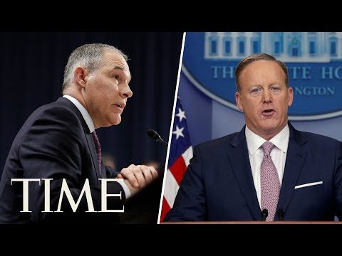 EPA Chief Scott Pruitt Joins Sean Spicer For White House Press Briefing | TIME