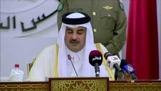 الشيخ تميم بن حمد آل ثاني أمير دولة قطر يؤكد التزام بلاده بالقضايا العربية العادلة