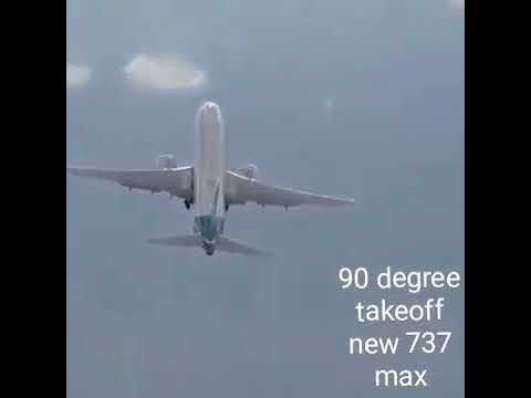 (90) degree vertical takeoff new 737 max