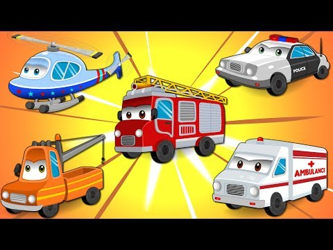 Street Vehicles with Police Car, Fire Truck & Ambulance | Nursery Rhymes for Kids