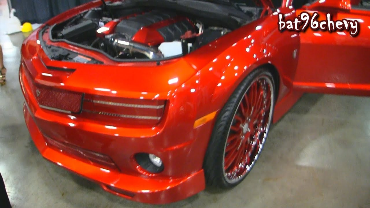 Red Wide Body Twin Turbo Camaro Ss On 26 Quot Forgiatos