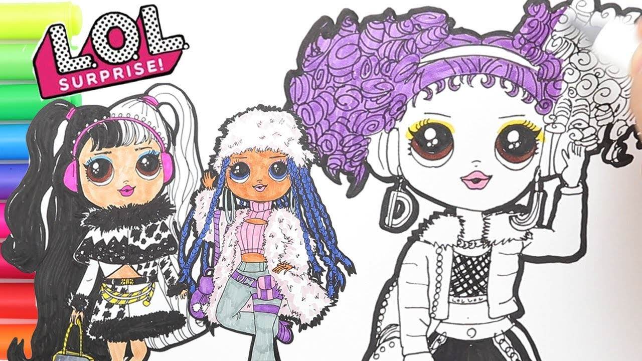 Coloring Lol Surprise Big Sisters Winter Disco Coloring Pages How To Draw Lol Big Sisters Youtube