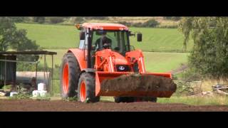 Kubota M100X - M135X tractors.    Lifes easy with Yarra Valley Ag...