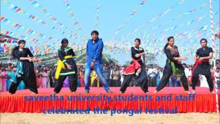 saveetha university,students and staff celebrated the pongal festival