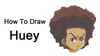 How to Draw Huey Freeman (The Boondocks)