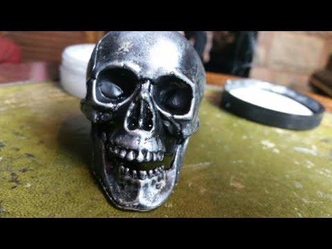 Metallic effect on plastic - DIY