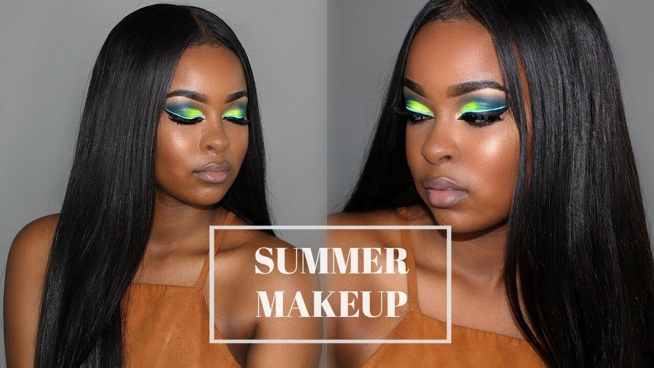 Summer Makeup Tutorial BROWN DARK SKIN
