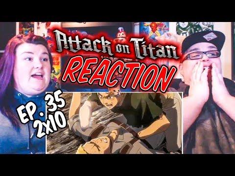 """Attack on Titan Episode 35 (2x10) """"Children"""" REACTION!!"""