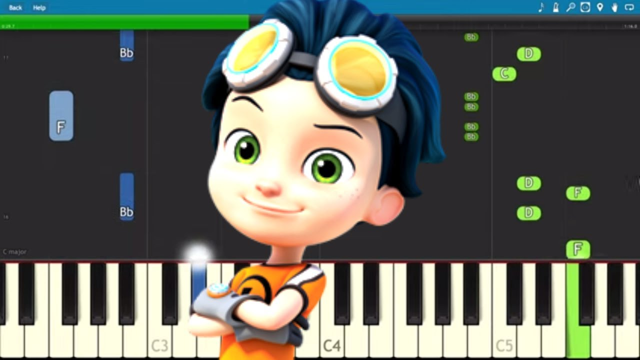 Rusty Rivets Theme Song Piano Tutorial Youtube