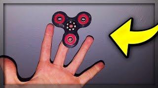 fidget spinner vs tricks finger spinner experiment part 4