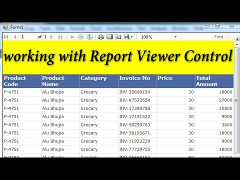 VB NET | Report Viewer Control | How to use Report Viewer