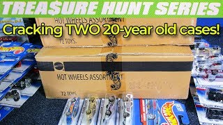 Unboxing TWO 20-year old Hot Wheels old-style cases from 1998 and Treasure Hunt score!