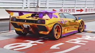 【金のランボルギーニ登場!?】休日に集まるスーパーカー・カスタムカー!!/GOLD Lamborghini !!