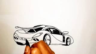 Belajar Menggambar Mobil Balap