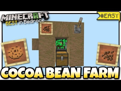 Minecraft - COCOA BEAN FARM ( NANO ) [ Redstone Tutorial ] MCPE / Bedrock /  Xbox / Switch