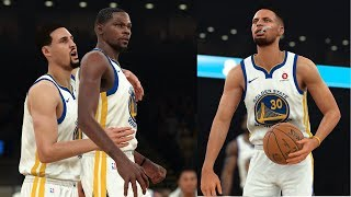 NBA 2K18 Stephen Curry, Kevin Durant & Klay Thompson BIG3! Highlights vs Sixers 2017.11.11