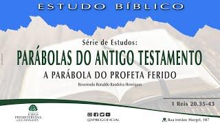 """Estudo Bíblico: Série Parábolas do Antigo Testamento - """"A parábola do profeta ferido"""" (1Rs 20.35-43)"""