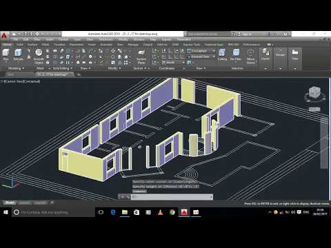 2D to 3D in Autocad _ Modern House Modeling
