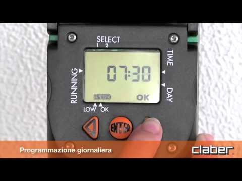 Programmatore centralina irrigazione claber aquauno video for Programmatore di irrigazione