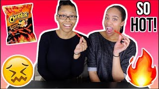 2X SPICY HOT CHEETOS CHALLENGE! {not even that hot but we're extra}