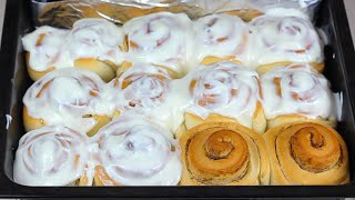 """Домашние булочки """"Синнабон"""" съели за 5 минут. Рецепт сдобных булочек с корицей. Простой рецепт"""