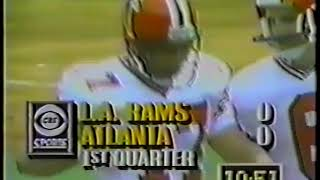 Los Angeles Rams vs Atlanta Falcons 1989 1st Half Week 1
