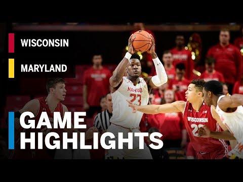 Highlights: Wisconsin at Maryland | Big Ten Basketball