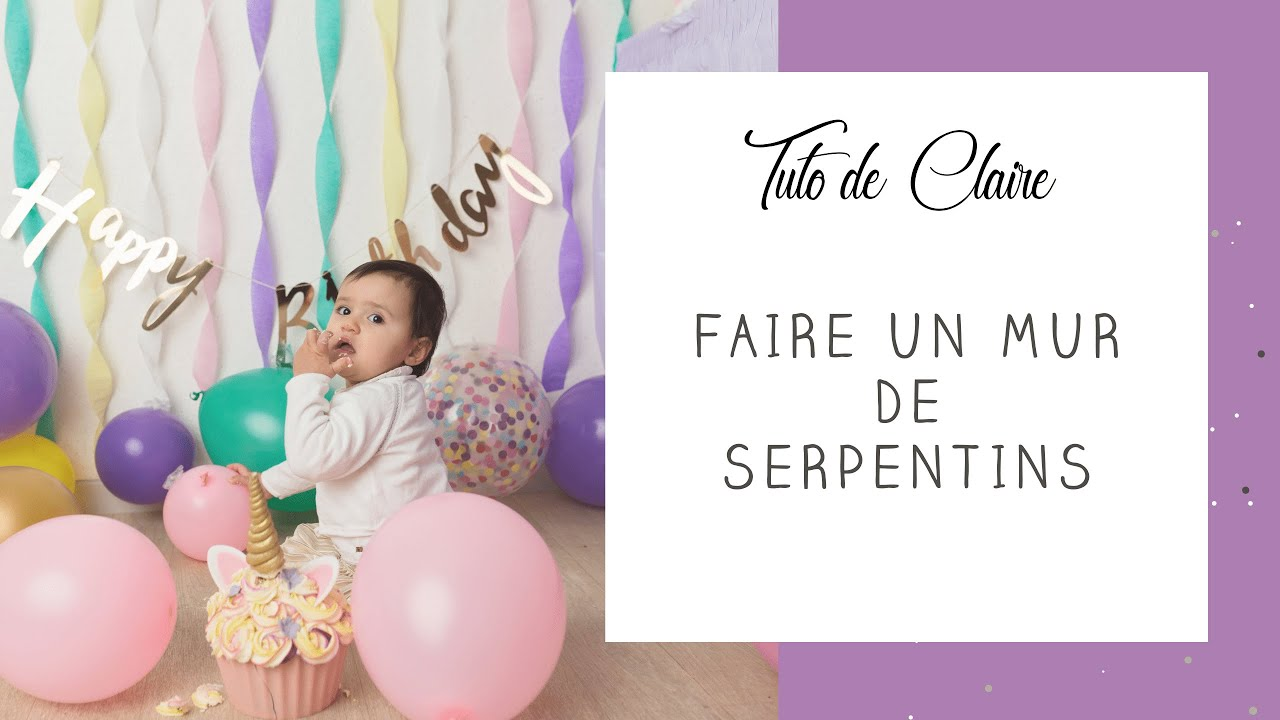 tuto comment faire un mur de serpentins en d coration d 39 anniversaire f te baby shower ou. Black Bedroom Furniture Sets. Home Design Ideas