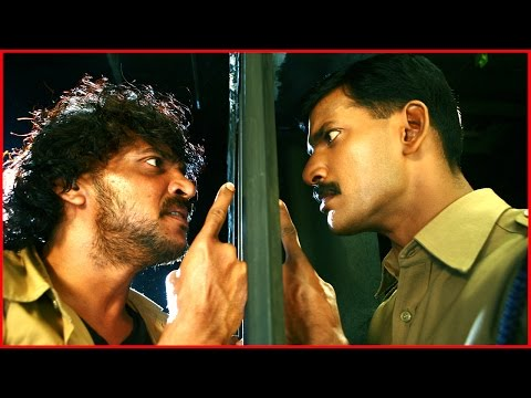 Satyam Tamil Movie  Vishal confronts Upendra