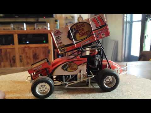 Revell 24 hours of Daytona 1991 model kit and Bass Pro Shops Steve Kinser sprint car