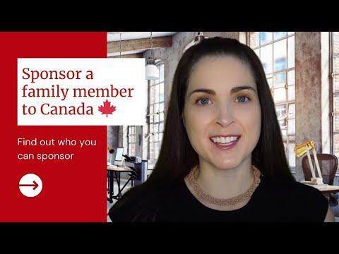 Sponsor a family member to Canada