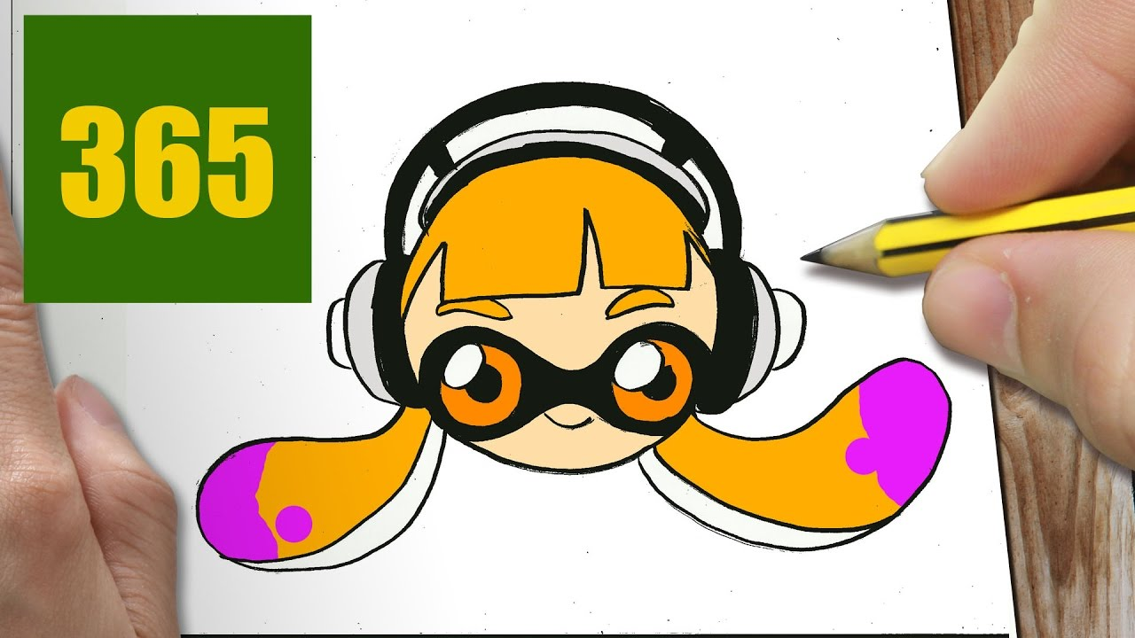 Comment dessiner splatoon kawaii tape par tape dessins - Dessin de naruto facile ...