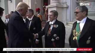 Papstaudienz: Papst Franziskus trifft US-Präsident Donald Trump im Vatikan (24.05.2017)