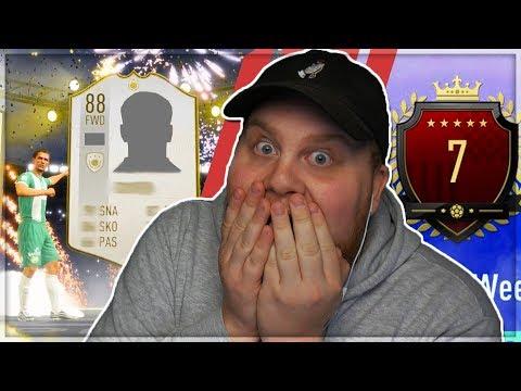TOPP 100 REWARDS MED EN ICON!! *OMG DET HÄNDER INTE?* - FIFA 19 SVENSKA