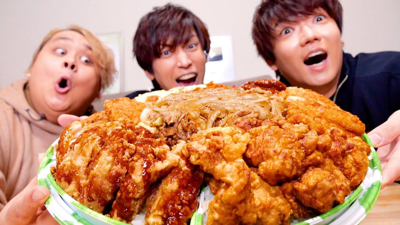 【大食い】5kgの超大盛り弁当「肉の城壁」を爆食したら幸せすぎた!!!!!