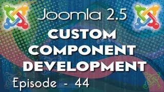 Joomla 2.5 Custom Component Development - Ep 44  How to use Joomla JTable in your Component part3