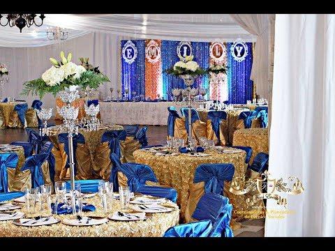Faos events decoracion de boda color azul royal y dorado for Decoracion petrole azul
