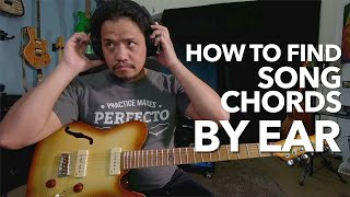 How to find Song Chords BY EAR | Guitar Lesson