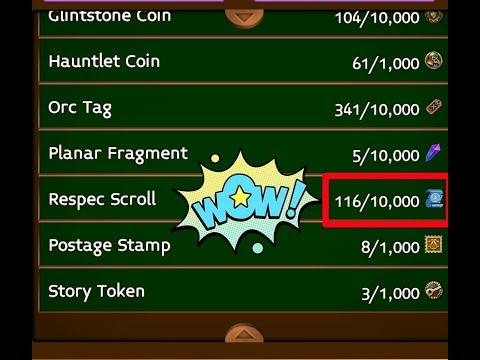 Arcane Legends: How To Get Respec Scrolls Cheap Or Almost Free Of Cost?