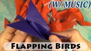 How To Fold Flapping Birds Fast (with Music)