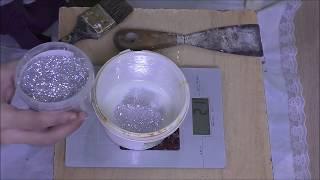 Приготовление лессирующего состава для декоративной штукатурки