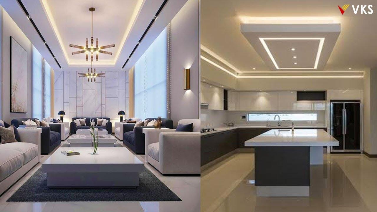 Latest False Ceiling Design   Living Room POP False Ceiling Interior    Bedroom Gypsum Ceiling